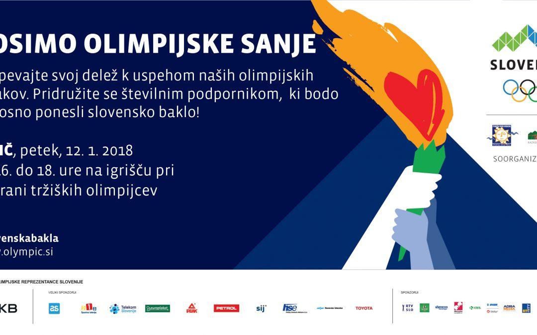 Nosimo olimpijske sanje, Tržič, 12.1.2018